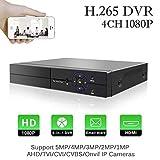 1080P Digitaler Videorecorder 5 in 1 Aottom 4CH DVR Video Recorder AHD/TVI/CVI/960H DVR HVR Onvif...