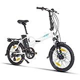Fitifito FD20 Plus Elektrofahrrad Faltrad Klapprad E-Bike Pedelec, 36V 250W Heckmotor, 36V 15.6Ah...
