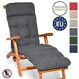 Beautissu Auflage fr Deckchair Flair DC 200x50x8 cm Liege-Stuhl Polster-Auflage mit...