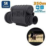 LS-650 6X50 720P 350M Range Infrared Night Vision Sight Goggle Monocular Video Photo Recorder DVR...