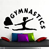 Tianpengyuanshuai Ich Liebe Gym wandtattoos Sport Fitness Gym Yoga raumdekoration tür Fenster...