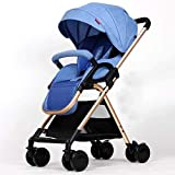SYue Kinderwagen Baby-Vier Räder Trolley Markise Fahrrad Baby Trolley Neugeborene Kinderwagen...