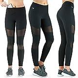 Formbelt Sport-Leggings mesh Handy-Tasche lang - sporteleggins Pilates Fitness Stretch-Hose...