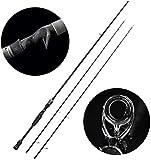 GXYWPF Für Black Fish, beweglichen Spinning Fishing Rod Combo 99% Carbon-Ultra Light Rod,2.4m