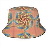 Boomerang Sun Mandala Unisex Fashion Print Bucket Hat Summer Fisherman Cap Packable Outdoor Sun Hat...
