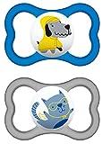 MAM Air Latex Schnuller im 2er-Set, extra leichtes und luftiges Schilddesign, Baby Schnuller aus...