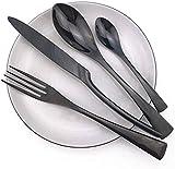 WHWH Besteck Set 16 Stück Geschirr Besteck 304 Edelstahl Besteck Messer Salatgabeln Schaufeln