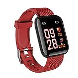Feketden Intelligentes Armband, 116 Plus Smart Watch 1,3 Zoll Tft Farbdisplay wasserdicht Sport...