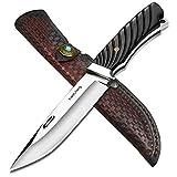 NedFoss Jagdmesser scharf Xiaolifang, Survival Messer aus D2 Stahl, Scharfer D2 Messer mit Exquisite...
