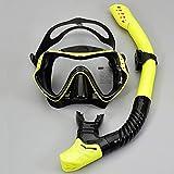 Tauchmaske Dry Schnorchel Set Antifog Schnorchel Maske, große Rahmen Silikon-Maske, Wasser und Gas...