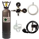 Guemmer products CO2 Anlage Komplett-Set für Aquarien mit 2kg Mehrwegflasche, gefüllt, NEU,...