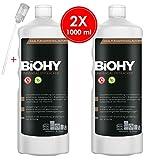 BIOHY Universal Flüssig-Entkalker 2 x 1 Liter Flaschen + Dosierer | Konzentrat für ca. 20...