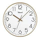 CHENGXI Einfache Runde Wanduhr Schlafzimmer Mute Uhr Keeping Accurate Schwarz/Weiß 12/14 Inch...