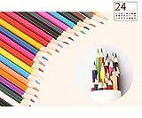 B&Julian 2X 24 Buntstifte Set sechskant für Kinder und erwachsen Farbstifte in Box Dose Etui...