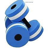 ulofpc 2 Stück Hanteln Aquahanteln mit Schlaufengriff für Wasser Fitness Aquagym Aquajogging...