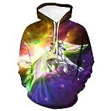 SWEYRT Farbstern Pegasus Pullover 3D Print Pullover Hoodie Sweatshirt Übergroße Winter Herbst...