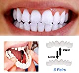 Chritape Zähne Prothese Perfect Smile Snap-On Braces Instant Perfekte Smile Comfort Fit Flex Zähne...