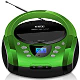 Tragbare Boombox | CD/CD-R | USB | FM Radio | AUX-In | Kopfhreranschluss | CD-Player | Kinder Radio...