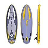 YoLiy Paddle Board Hydro-Force Inflatable SUP Stand Up Paddle Board mit Tragetasche und Pump...