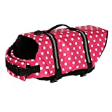 Bongles Dogs' Jacket with Rescue Handle and Reflective Trim Adjustable Pet Swim Vest for Small...