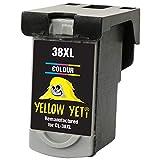 Yellow Yeti Ersatz für Canon CL-38 Druckerpatrone Farbe kompatibel für Canon Pixma MP210 MP220...