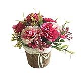 nuiOOui131 Künstliche Blume, Nelke, Rattan, Bonsai, Garten, Muttertag, Dekoration, Blau, 1 Stück...