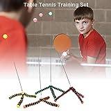 smilerr Tischtennisblle Paddel Set Tischtennis Training Elastische Soft Shaft Ausrstung Trainer...