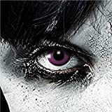 Funlinsen 3-Monatslinse Purple Gothic, Lila, The Walking Dead white Zombie Kontaktlinsen Crazy...
