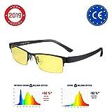KLIM Optics - Blaulichtfilter Brille + Hoher Schutz + Gaming Brille für PC, Handy und Fernseher +...