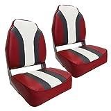 Waterside2er Set High Back Pro Bootssitz (Boat Seat) Redline
