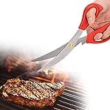 Küchenschere, Edelstahl Küchenschere Geflügel BBQ Huhn Fischfutter Scher Kochwerkzeug Kochen im...