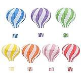 HANGNUO 7 Stck Heiluftballon-Papierlaternen, Lampenschirme zum Aufhngen, Girlanden-Dekorationen,...