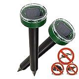Nurkoo 2 Stck Solar Maulwurfabwehr IP65 Ultrasonic Maulwurfschreck,Mole Repellent, Whlmausschreck,...
