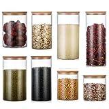 MoGist Glasversiegelte Dosen Teedosen Durchsichtige Glasvorratsdosen Mehrkorndosen 1 STÜCKE