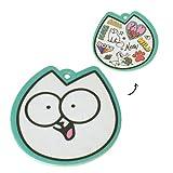 Unbekannt Simon's Cat Lufterfrischer mit Kokosduft - Simons Katze Duftbaum Auto Lufterfrischer