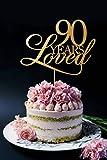 Tortenaufsatz für 90 Jahre geliebte Hochzeitstorte/Hochzeitstorte, goldfarben