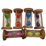 perfeclan 6 x Sanduhr Set Stundenglas Zahnuhr Zahnputzuhr Set - Runden
