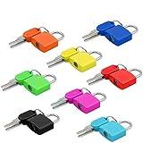 Gepäckschloss (8 Stück) kleines Mini-Vorhängeschloss mit Schlüssel für Reisen, Rucksack,...