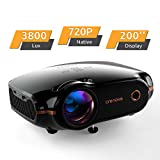 Mini Beamer, Portable Crenova Video Projektor, HD Beamer mit 200' Bildgröße unterstützt...