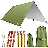 Ryaco Camping Zeltplane, 3m x 3m Tarp für Hängematte, wasserdicht Leicht Kompakt Zeltunterlage...