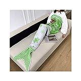 YLYWCG Meerjungfrau Decke|Mermaid Decke for Erwachsene|Sofa-Decke|Klimaanlage Decke (grün)