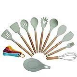 - Küchenwender-Set – Solide und geschlitzte Kochspatel – Griffe & Kunststoff-Utensilien, die...