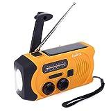 INTIPAL AM/FM Solar Radio Solarradio mit Handkurbel Kurbeldynamo LED Taschenlampe Notfall Ernstfall...