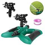 FIXKIT Rasensprenger, Automatische 360 Grad Garten Sprinkler mit Auswirkungs Sprinkler geeignet fr...