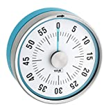 TFA Dostmann Puck Kchentimer, Eieruhr magnetisch, Timer, mit Restzeit-Anzeige, 0-60 Minuten, trkis,...