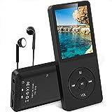 AGPTEK MP3 Player, 8GB verlustfrei MP3 mit 1,8 Zoll Bildschirm, 70 Stunden Wiedergabezeit,...