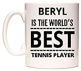 WeDoMugs Beryl is The World's Best Tennis Player Becher