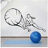 XXSCZ Beach Volleyball Ball Mdchen Spielerin Frau Sport Wandaufkleber Vinyl Inneneinrichtung Schule...