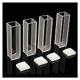 QKU 4 Stück sichtbarer Behälter 3,5 ml Zelle 10 mm Quarz/Glas optisches Spektrometer...