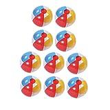 BESPORTBLE 12 Stück Strandbälle Spiele Kinder Aufblasbare Bälle Bunte PVC für Kinder Erwachsene...